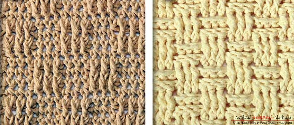 Crochet patterns with crochet description. Openwork and dense patterns crocheted. Photo №5
