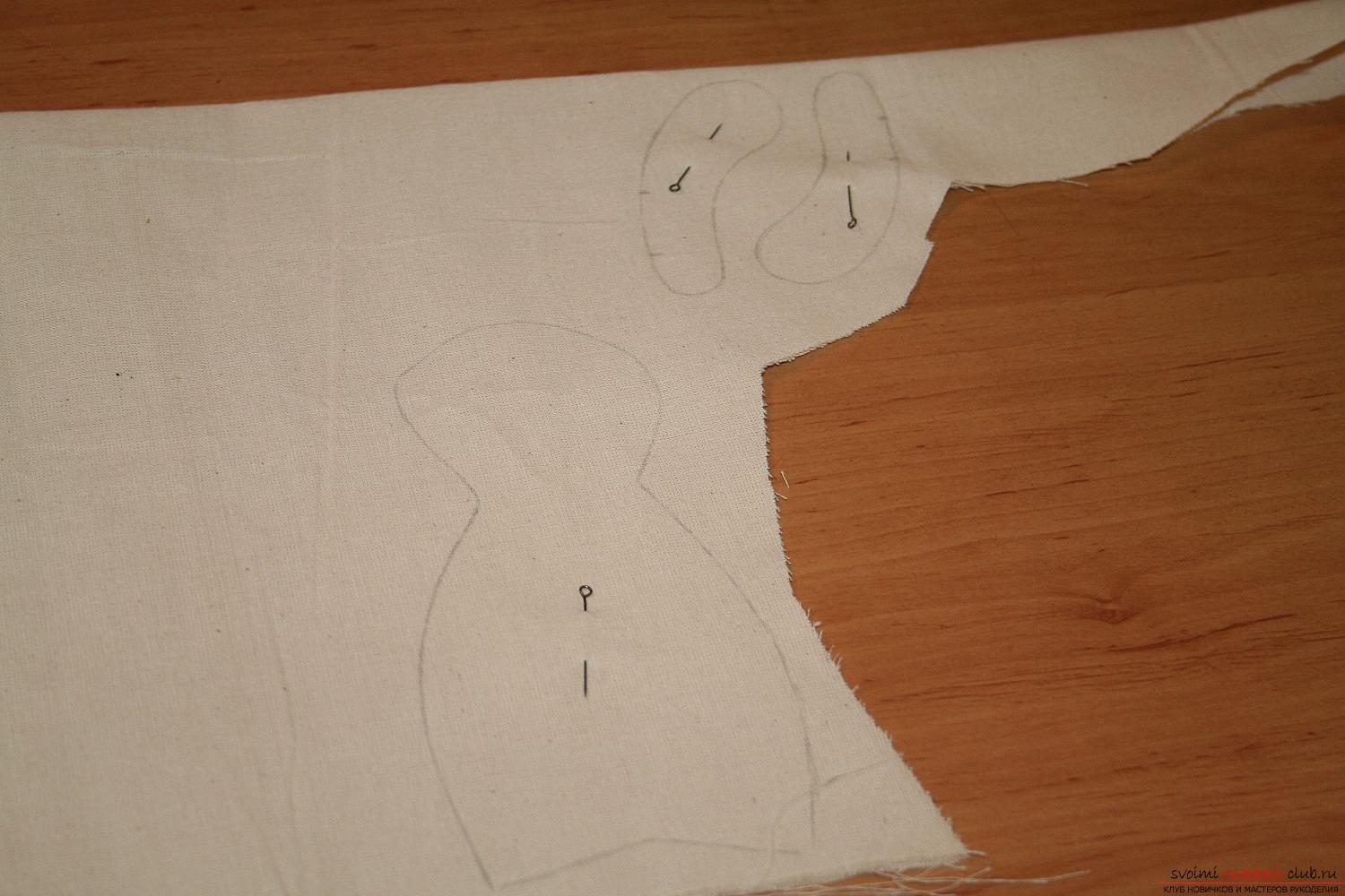 A master class on the creation of a New Year's doll will help to make a hare to Tilda with his own hands. Photo №7