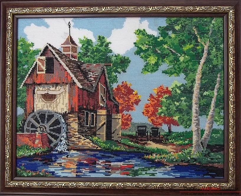 Cross-stitch embroidery of landscapes with schemes for beginners. Photo №4