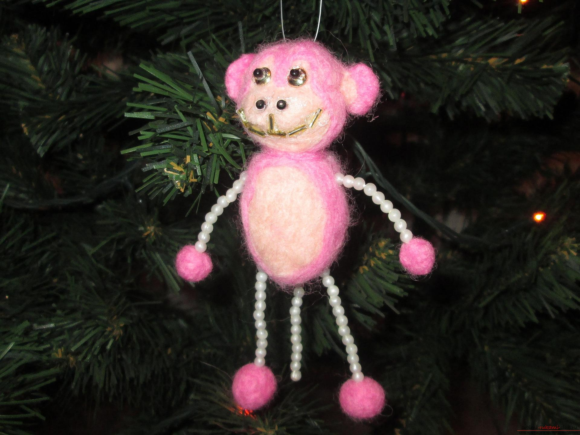 This master class felting out of wool will help make a toy monkey with your own hands. Photo №1
