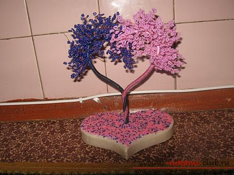 How to make a tree of beads with your own hands? Schemes and a master class for work. Picture №3
