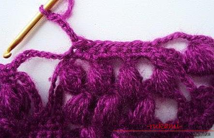 Druivenpatroon voor gehaakte sjaal - patronen voor gehaakte sjaals en patronen. Afbeelding №3