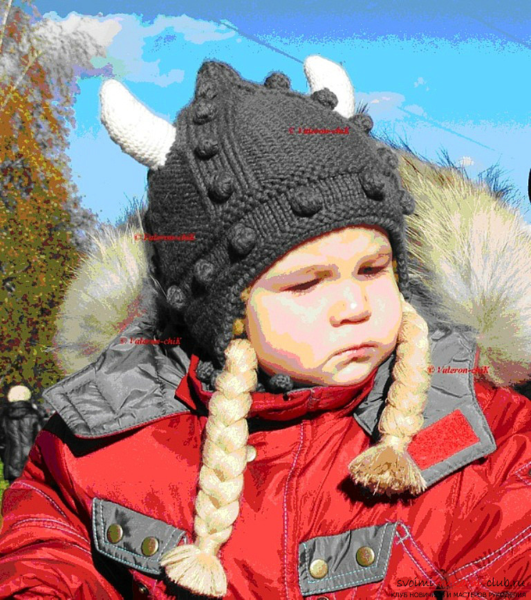 Winter woolen hat for the baby. Photo №5