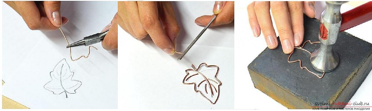 How to make a brooch made of polymer clay in the form of an oak leaf, step-by-step photos and job description. Photo # 2