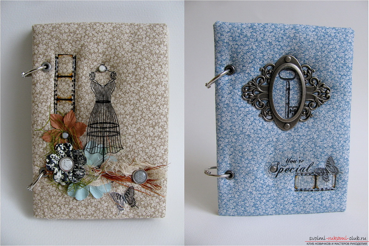 How to create a unique notebook. From cloth and decoupage, simple photo-lessons .. Photo # 1