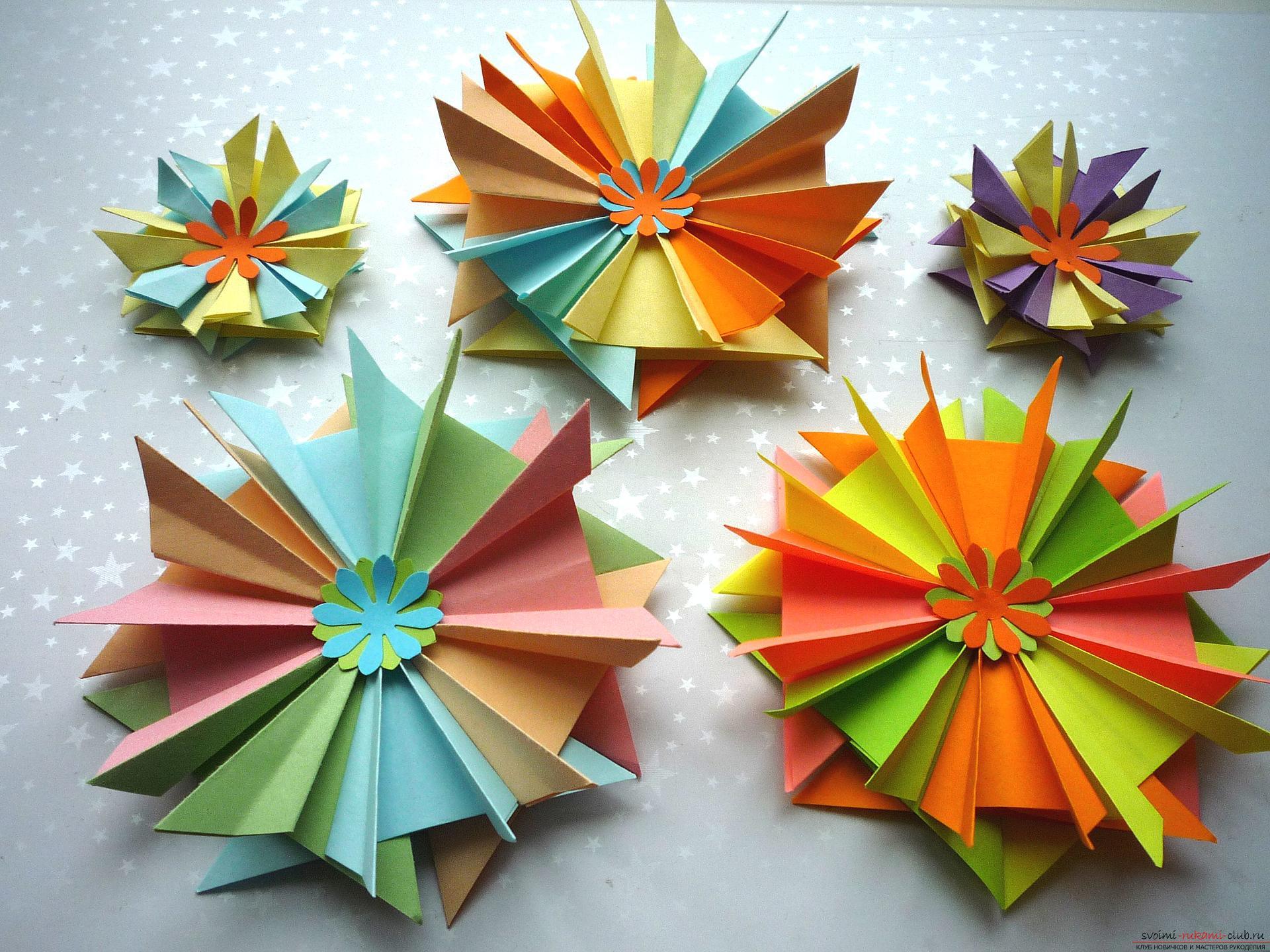 Майсторският клас ще ви каже как да направите модулна звезда от оригами от хартия със собствените си ръце. Снимка номер 15