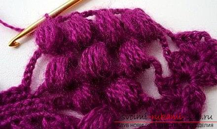 Druivenpatroon voor gehaakte sjaal - patronen voor gehaakte sjaals en patronen. Foto №7