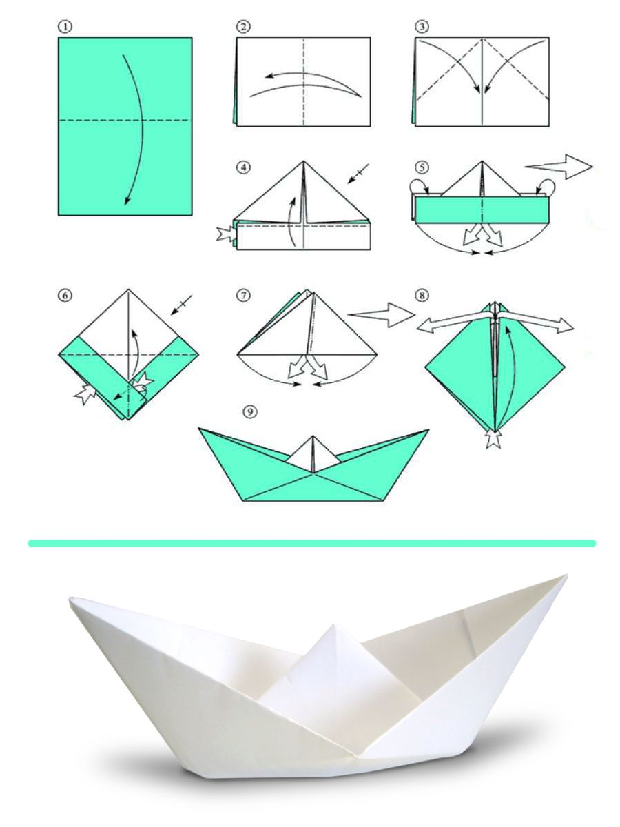 how to make a boat out of paper