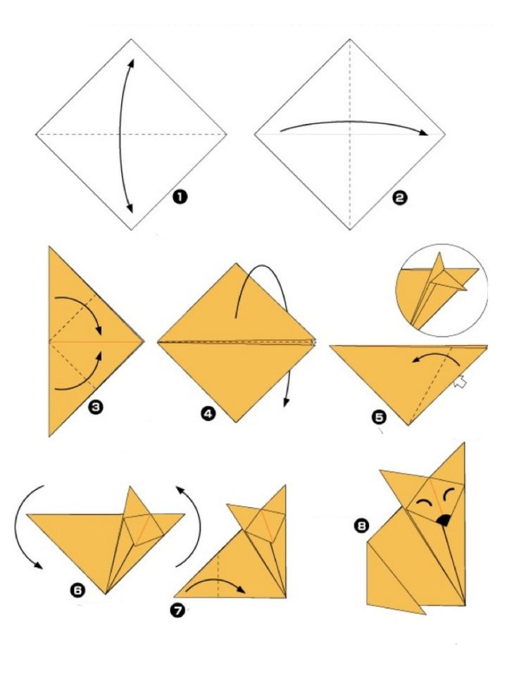 Една проста схема на оригами