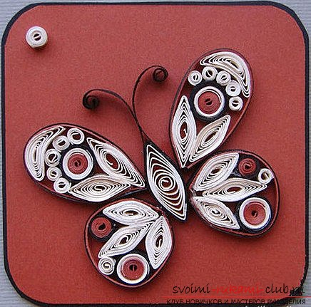 We make a butterfly in the quilling technique. Picture №3
