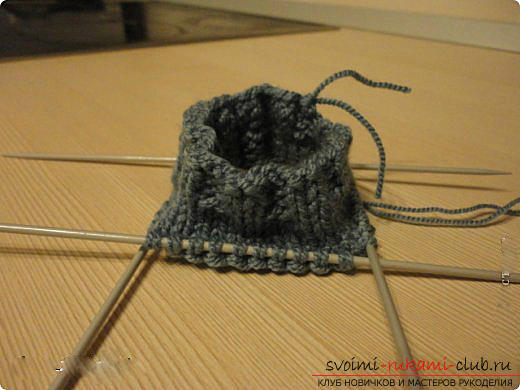 Master class for knitting mittens with knitting needles for women with photo and description .. Photo # 10