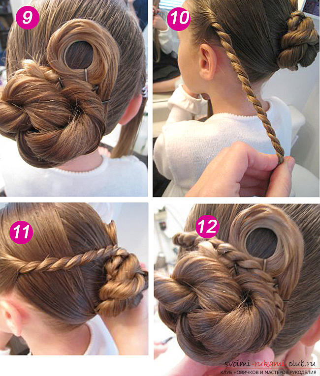 Hairstyles for September 1 for young schoolgirls for hair of different lengths are easy to do on their own. Picture №3