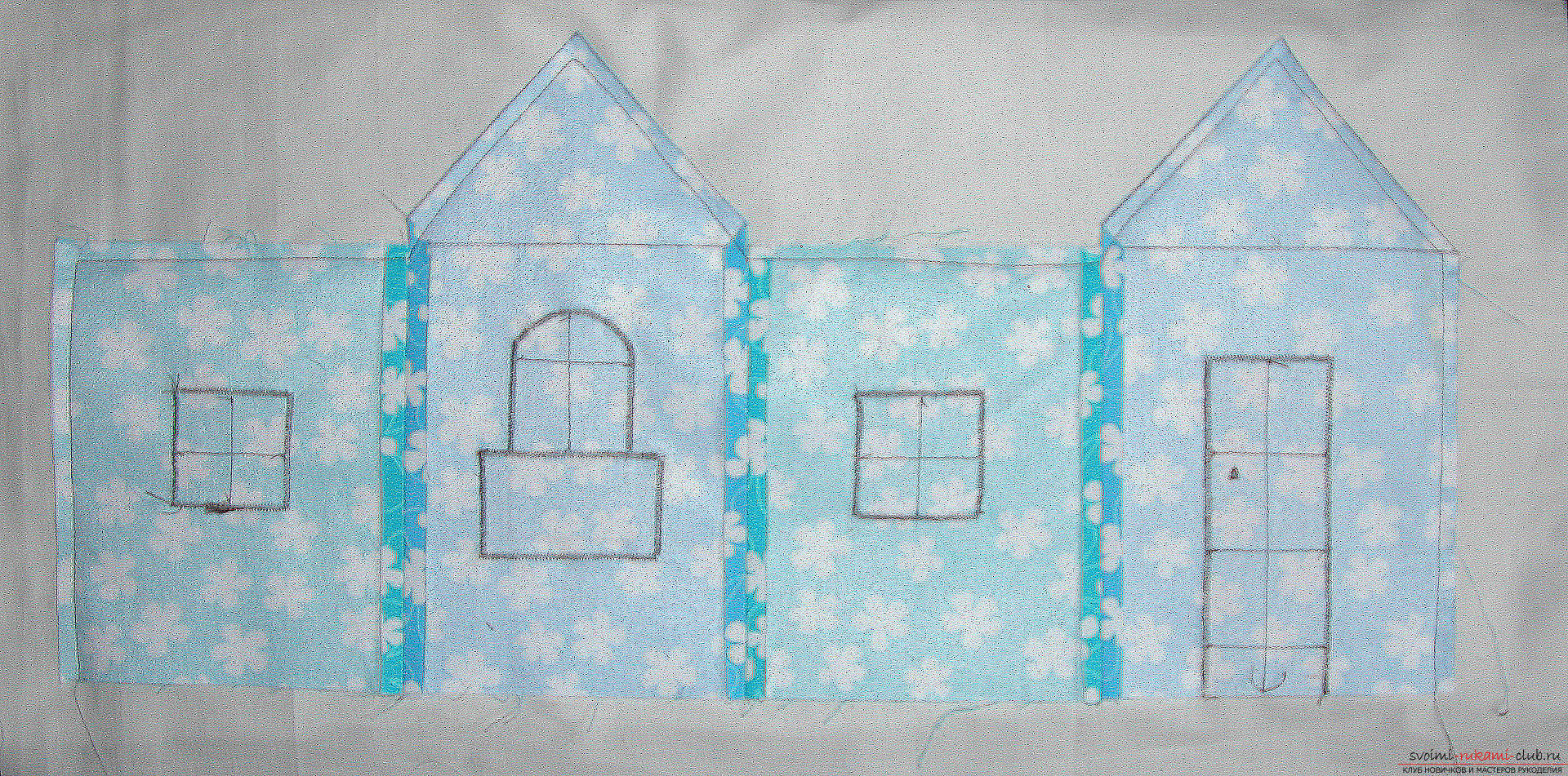 Master class - we make a textile functional house with our own hands. Photo Number 9