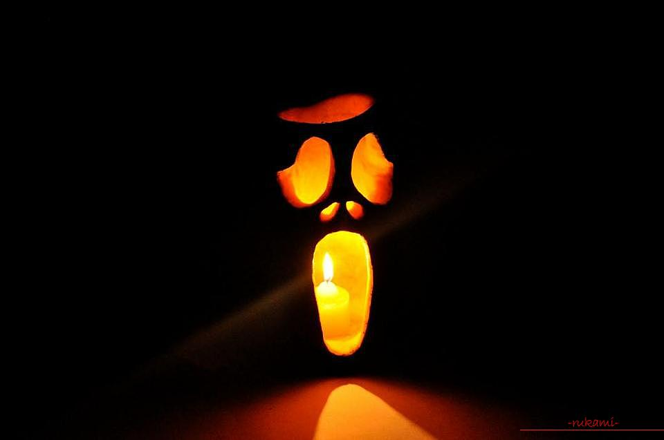 How to make a lamp from a pumpkin with their own hands .. Photo # 12