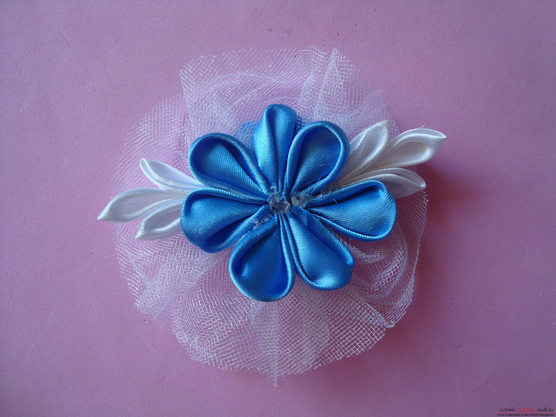 Master class for faking a delicate barrette with their own hands ,. Photo Number 22
