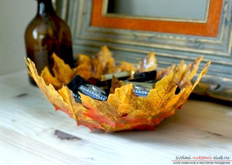 Autumn crafts made of natural materials with their own hands. Photo №4