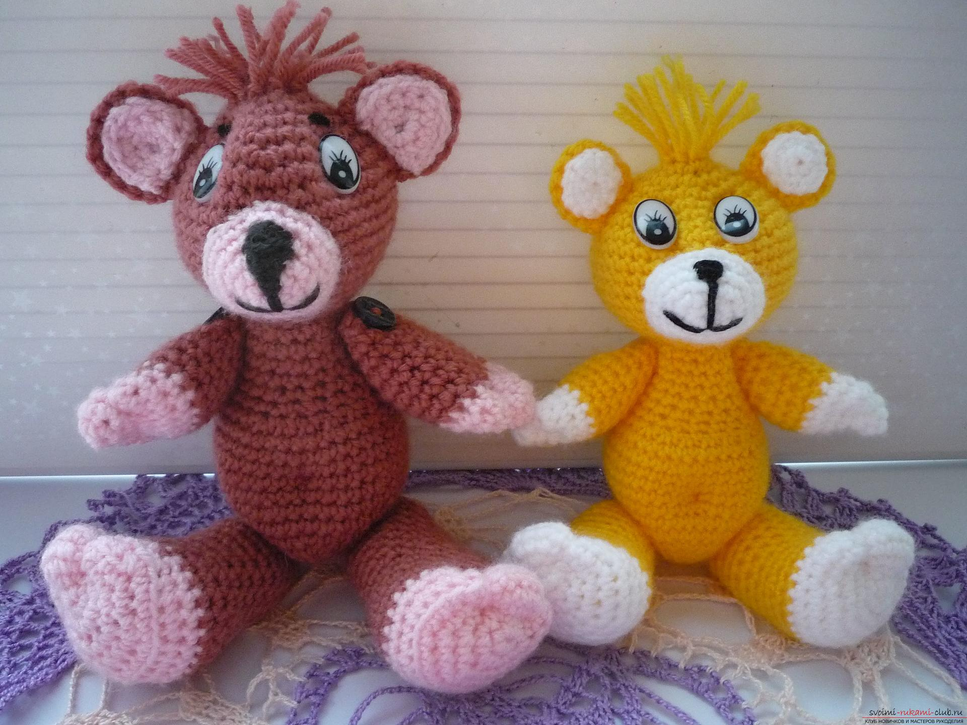 This master class of soft toys will teach crochet teddy bear Amigurumi. Photo №34