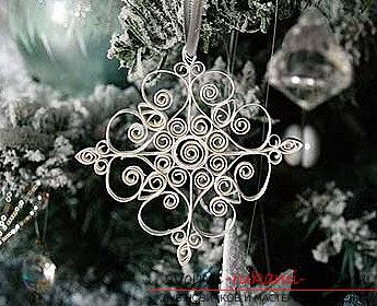 The shape of the snowflake for quilling is a new form and a master class for a snowflake. Photo №1
