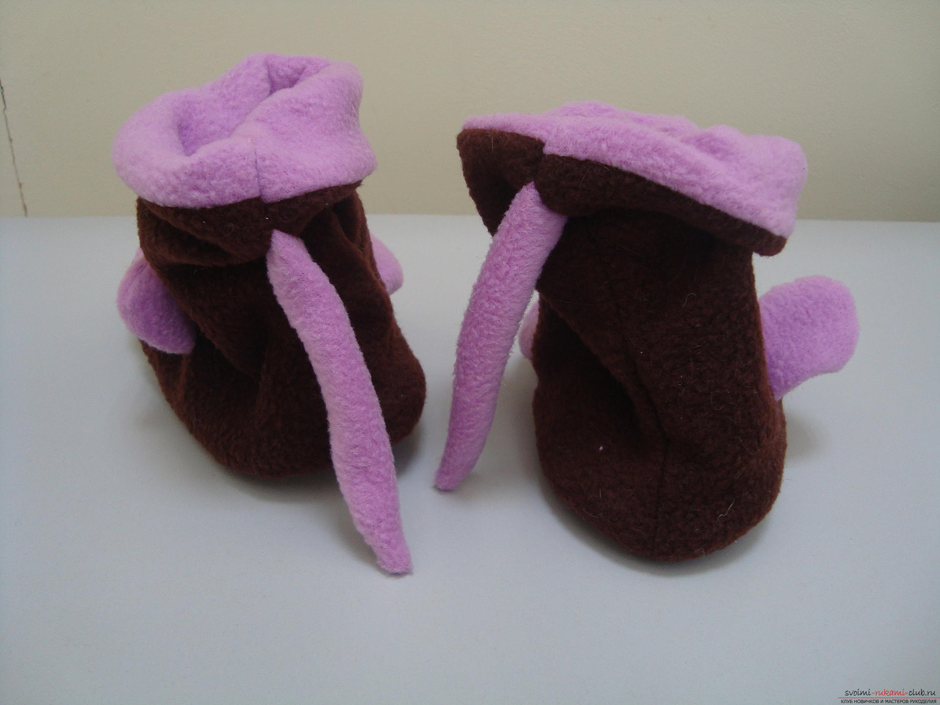 This master class will teach how to sew hand-made house slippers with the symbol of the year - the monkey .. Photo # 4