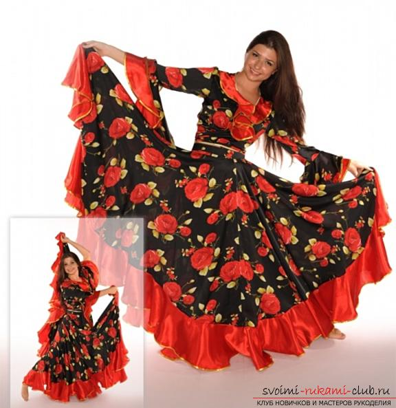 Bright gypsy skirt with your own hands with a pattern. Photo # 2