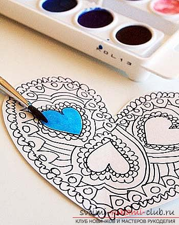 Gifts for Valentine's Day with their own hands, various variations of making Valentine's cards with their own hands, a magnet in the form of a heart as a gift to your beloved .. Photo №5