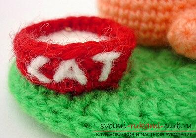 How to tie a cat to an amigurumi with your own hands with diagrams and photos. Photo №6