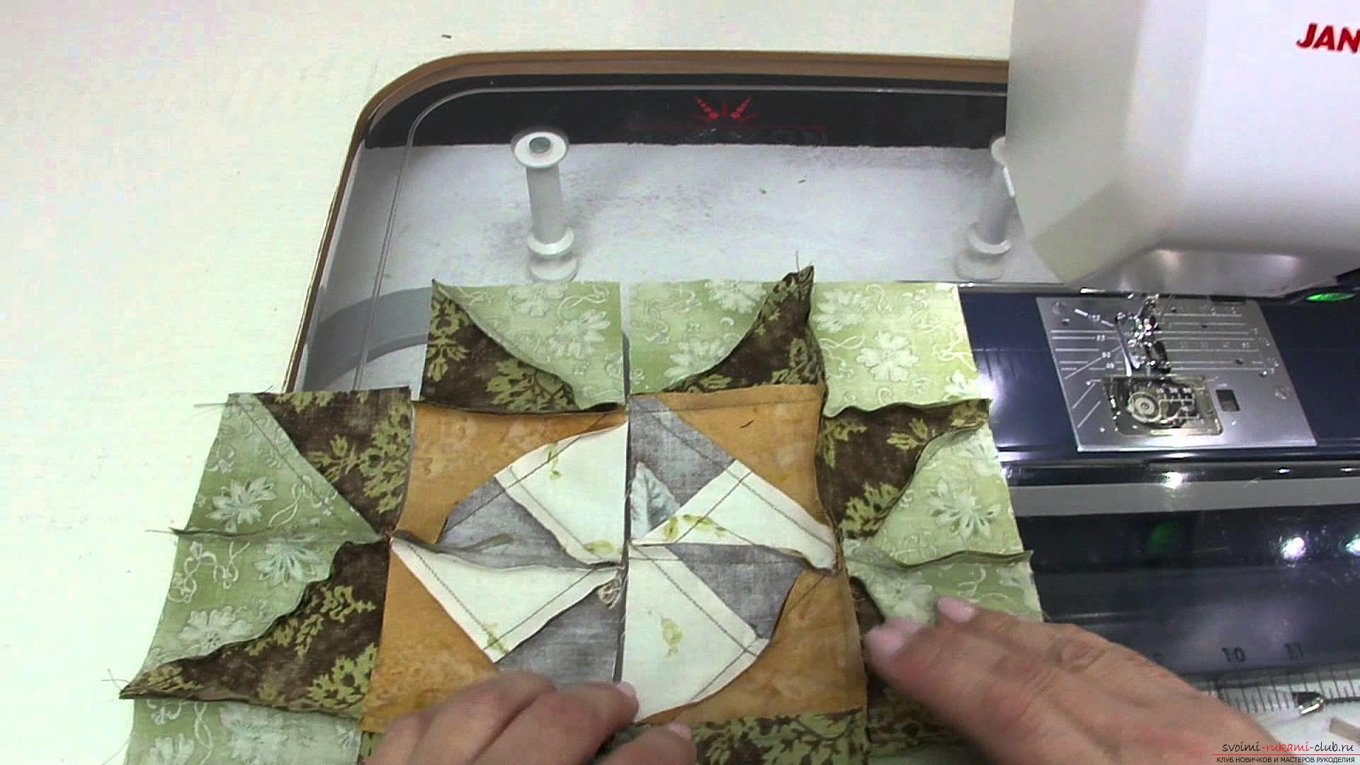 Patchwork patterns and ways of assembling when sewing from triangles. Photo №7