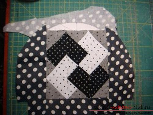 Sewing a cosmetic bag in patchwork technique. Photo # 23