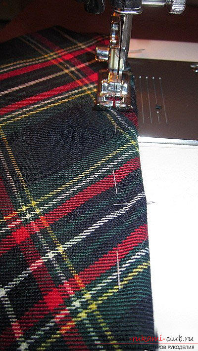 Sew a skirt-flap in a cage for a pattern quickly and easily. Photo №7