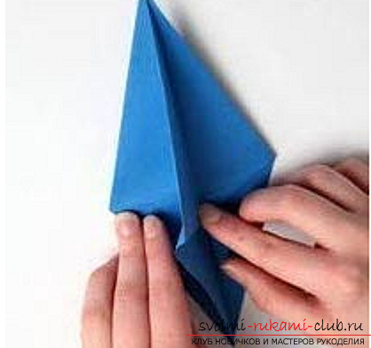 Blue dragon origami. Photo number 17