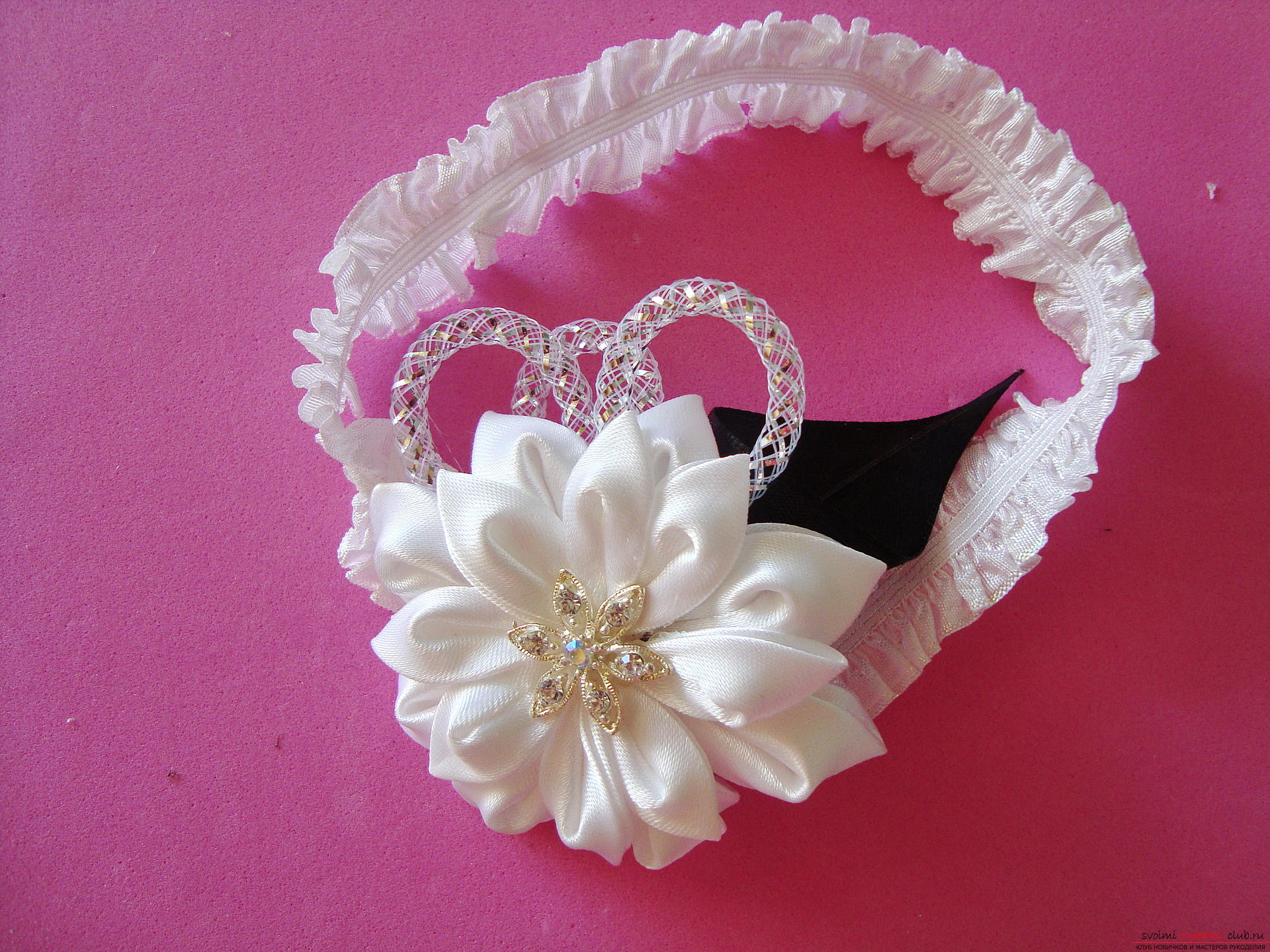 Step-by-step instruction for making bandages for the bride with description and photo. Photo №1