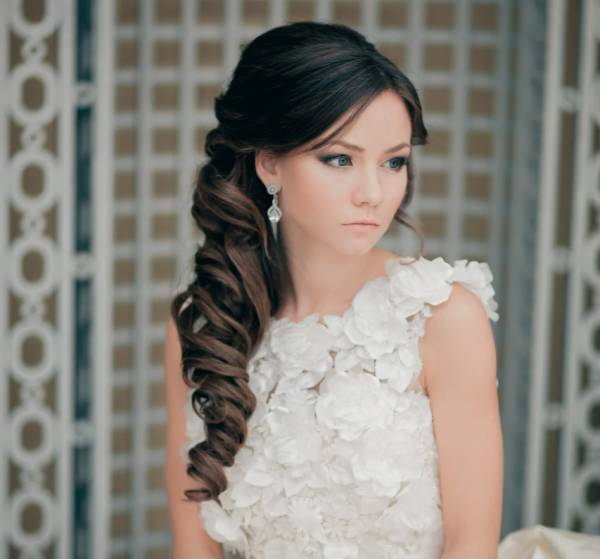 A black haired hairstyle for long hair. Photo №4