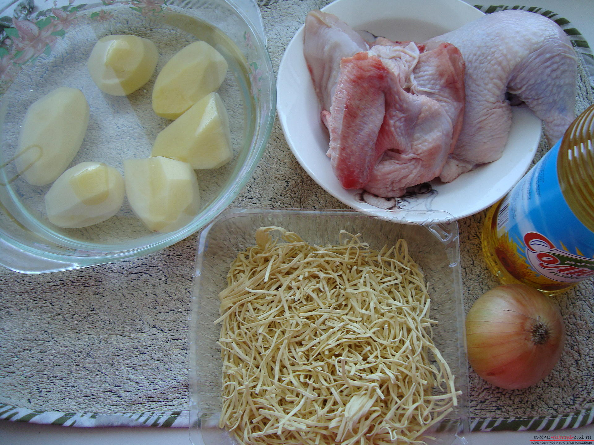 Step-by-step recipe for cooking chicken soup in a multivark. Photo # 2