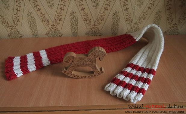 children's two-color scarf. Photo №1