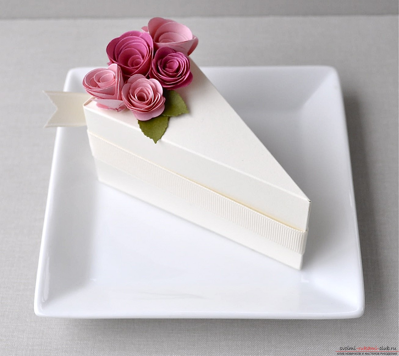 How to make a paper cake with your own hands ?. Photo # 2
