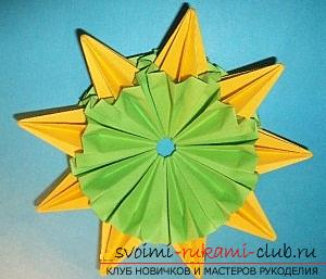 Free master classes for creating modular origami balls, step-by-step photos and description .. Photo # 40
