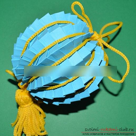 Lesson origami New Year paper toys and a master class of New Year's needlework. Photo №1