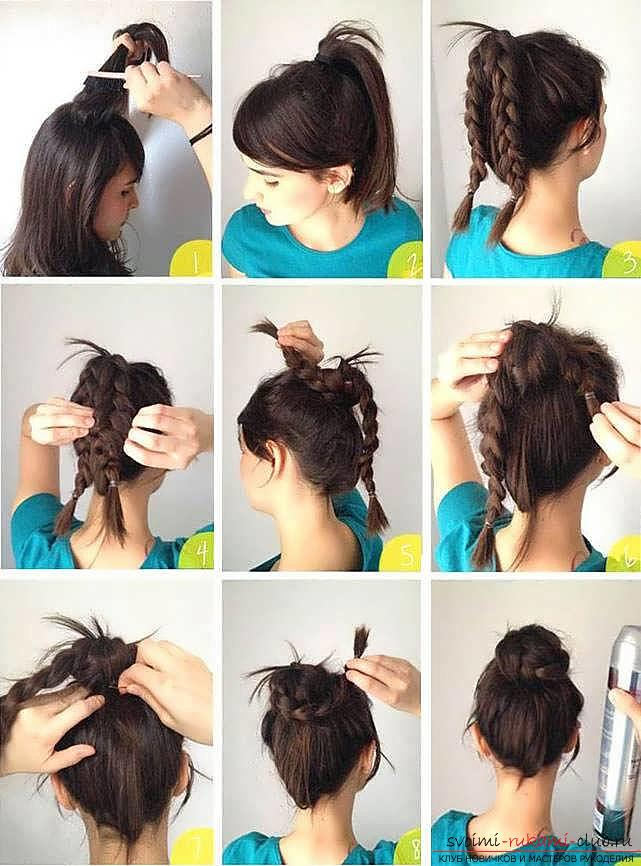 We learn to make fast and beautiful hairstyles with our own hands with a photo. Photo Number 11