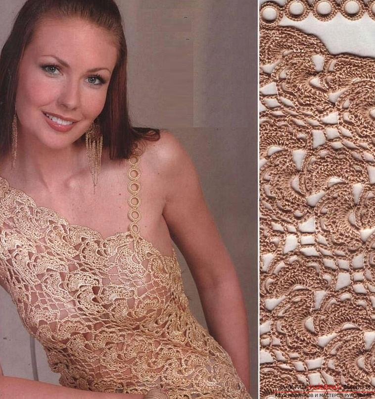 How to tie a lace dress with your own hands crochet, using different knitting techniques .. Photo # 12