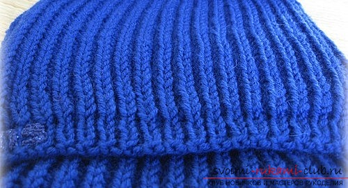 We knit a man's scarf with an English rubber band. Photo №4