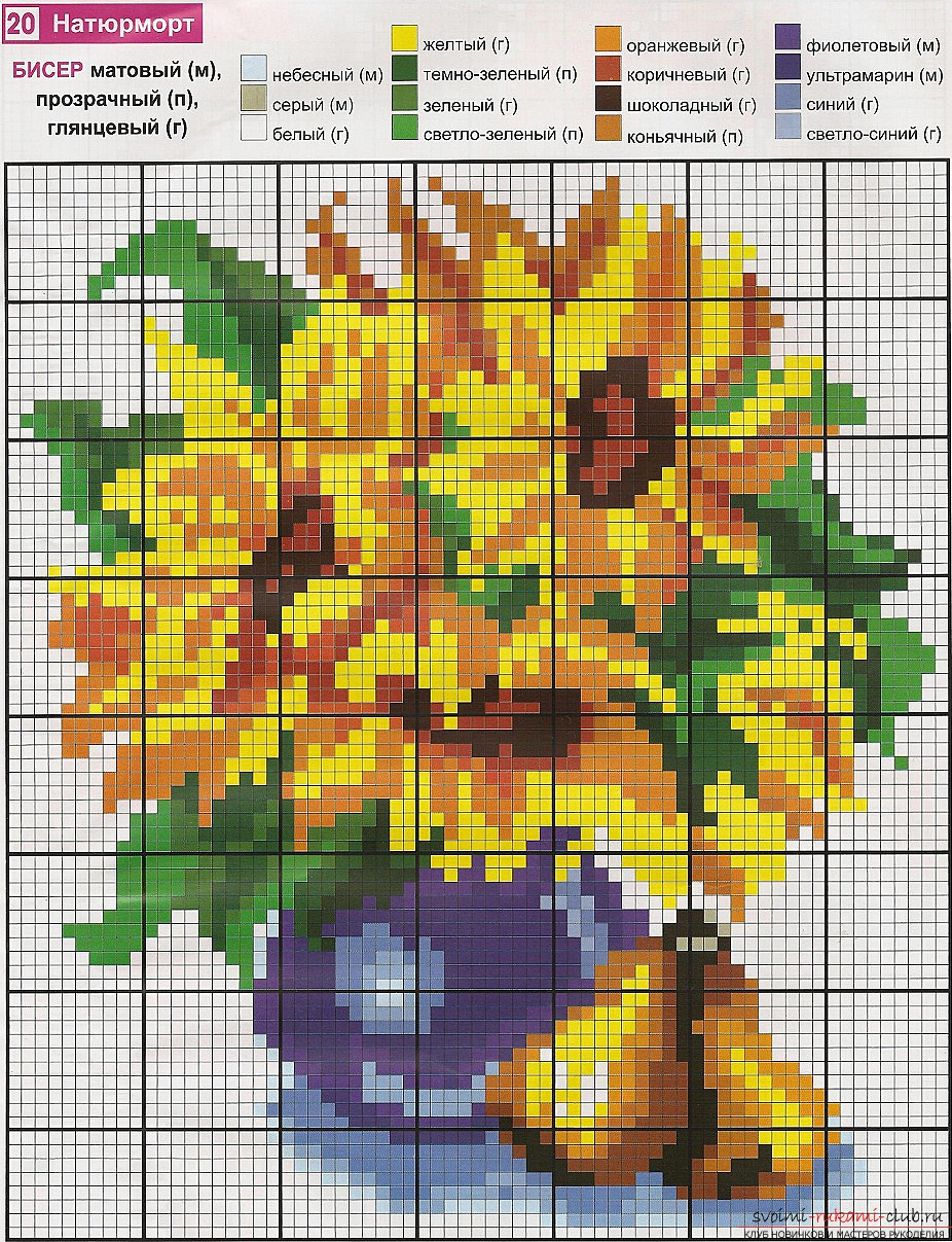 Embroidery of a flower with the help of beads. Tips and photos for embroidery with beads .. Picture №1