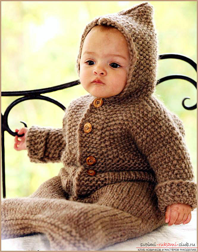 Knitting needles for newborns, tips andtricks for knitting clothes for young children, a cap for newborns with their own hands, how to tie booties for newborns, knitting lessons with descriptions, recommendations and master classes .. Photo # 4