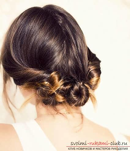 Masterclasses to create fashionable hairstyles on medium-length hair with their own hands for 5 minutes. Photo number 15