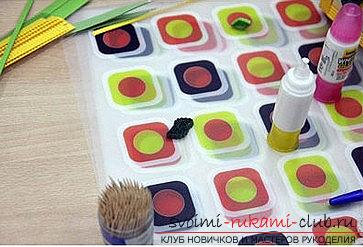 How to make a flower arrangement in the technique of quilling for a postcard? Master Class. Photo Number 9