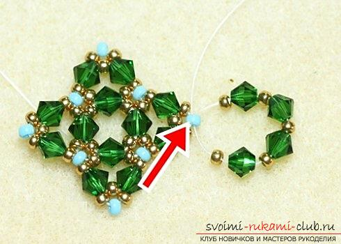 Several master classes on weaving earrings from beads, step-by-step photos and description .. Photo # 29
