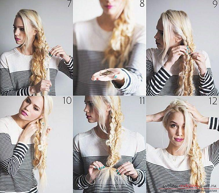 Master classes on creating hair styles for hair of medium length with their own hands. Photo number 16