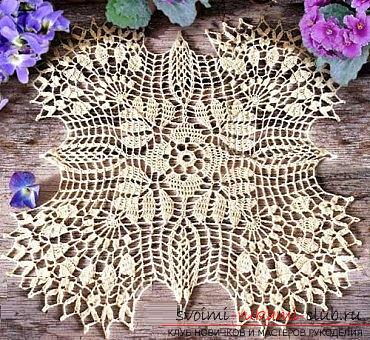 How to crochet the openwork napkins, charts, photos and job description .. Photo # 3
