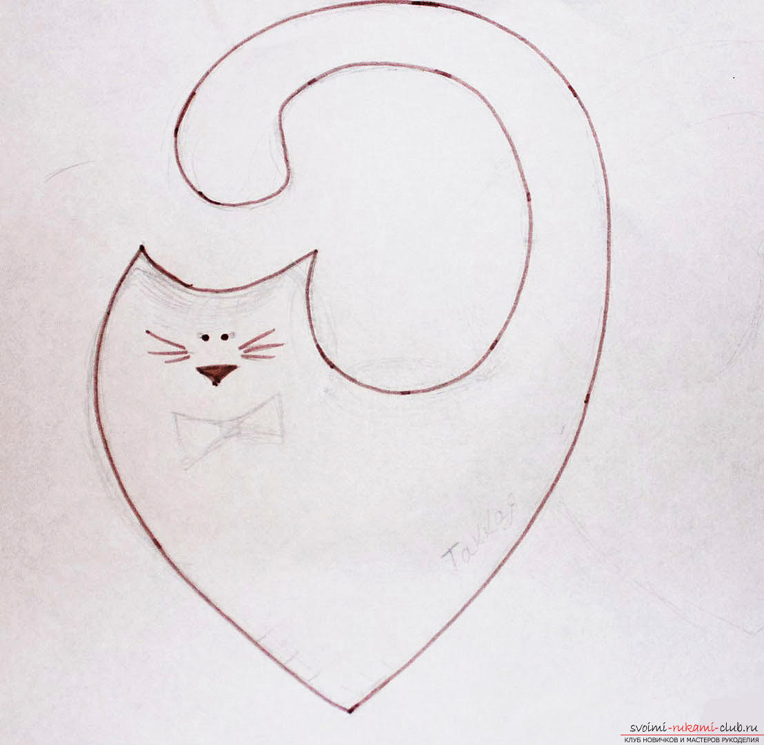 Building a pattern and making lovers cats .. Photo # 2