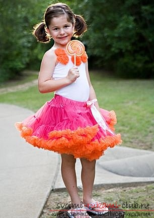 How to make a skirt pattern for a Pettiskirt girl with your own hands. Photo №1