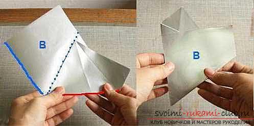 Об'ємна сніжинка, виконана в техніці орігамі. фото №3